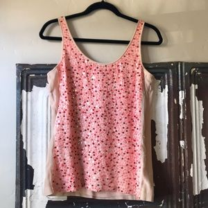 J Crew Collection Sequin Front Tank
